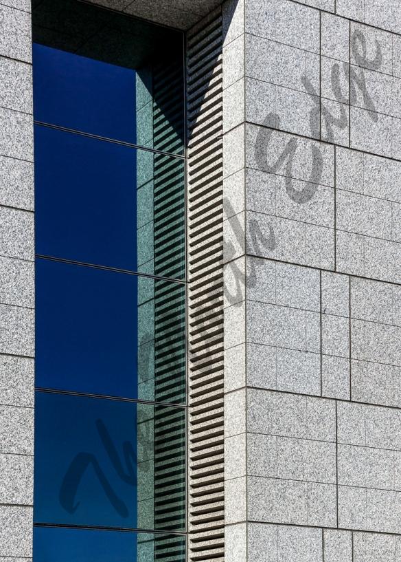 blue windows reflection